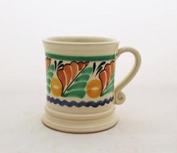 Mexican pottery mexican ceramic folk art Coffe Mug Traditional<br>14 Oz<br>Green-Yellow