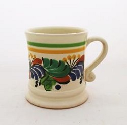 Mexican pottery mexican ceramic folk art Coffe Mug Traditional<br>14 Oz<br>Blue-Green Colors