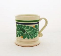 Mexican pottery mexican ceramic folk art Coffe Mug Traditional<br>14 Oz<br>Green-Black Colors II