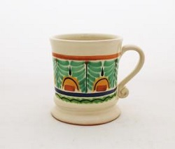 Gorky Gonzalez / GorkyPottery Coffe Mug Traditional<br>14 Oz<br>Green-Yellow Colors II