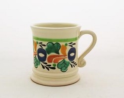 mexican ceramic mexican potttery folk art talavera Gorky Gonzalez Coffe Mug Traditional<br>14 Oz<br>Traditional Border II