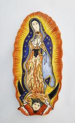 mexican pottery mexican ceramic folk art talavera Virgin Gpe<br>Small Altar Piece