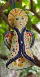 Mexican pottery mexican ceramic folk art Angel Ornament