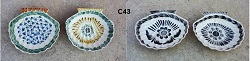 Mexican pottery mexican ceramic folk art Shell<br>Dish Plate