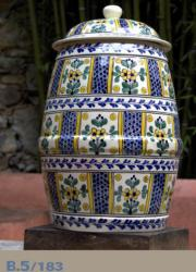 mexican pottery mexican ceramic folk art talavera Barrel Pattern 183