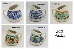 mexican ceramic mexican potttery folk art talavera Gorky Gonzalez Milk Pitcher