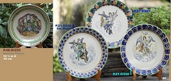 mexican pottery mexican ceramic folk art talavera Plates w/saints 2