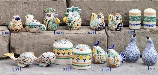 mexican pottery mexican ceramic folk art talavera Salt & Pepper Shakers