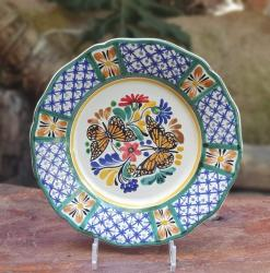 butterfly-flower-plate-blue-talavera-handcrafts-gto-mexico-art-gallery-tableware-tabledecor