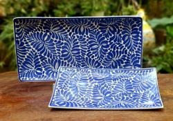 ceramic-trays-blue-talavera-mayolica-handpainted-gto-mexico-tableware