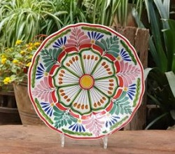 flower-plate-blue-talavera-handcrafts-gto-mexico-art-gallery-tableware-tabledecor-majolica