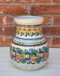mexican+flower+vase+pottery+hand+thrown+majolica+decorative+jar+home+and+garden+gorky+worshop+guanajuato+2