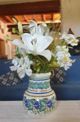 mexican+flower+vase+pottery+hand+thrown+majolica+decorative+jar+home+and+garden+gorky+worshop+guanajuato+3