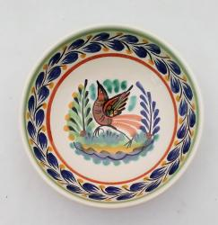 mexican-ceramic-cereal-soup-bowl-handmade-handcrafts-talavera-majolica-bird-blue