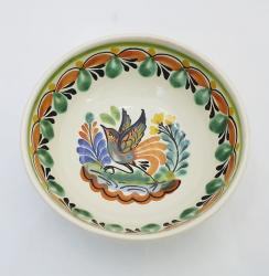mexican-ceramic-cereal-soup-bowl-handmade-handcrafts-talavera-majolica-bird