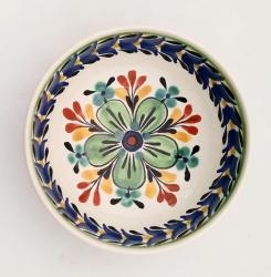 mexican-ceramic-cereal-soup-bowl-handmade-handcrafts-talavera-majolica-flower