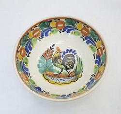 mexican-ceramic-cereal-soup-bowl-handmade-handcrafts-talavera-majolica-rooster
