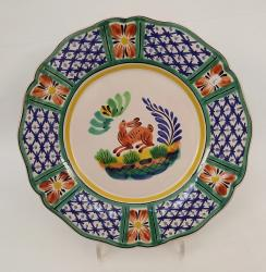 mexican-ceramic-plates-pottery-hand-painted-rabbit-pattern-talavera-majolica-table-decor-mexico