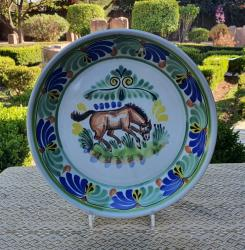 mexican-ceramic-service-platter-horse-farm-motives-majolica-mexico-decorative