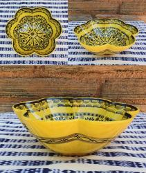 mexican-ceramics-dinnerware-table-decor-majolica-gorky-workshop-flower-salad-bowl-yellow-contemporary