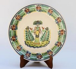 mexican-decorative-plate-catrina-motives-halloween-day-of-dead-ceramic-hand-made-mexico