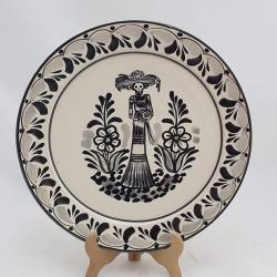 mexican-plates-ceramic-pottery-catrina-ii-motive-folk-art-hand-crafts-hand-made-mexico-for-sale-amazon