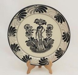 mexican-plates-ceramic-pottery-catrina-iv-motive-folk-art-hand-crafts-hand-made-mexico-for-sale-amazon