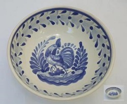mexican-plates-cereal-soup-bowl-handcrafts-talavera-rooster-mexico