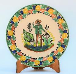 mexican-plates-dinner-dinning-folk-art-majolica-mexico-men-charro