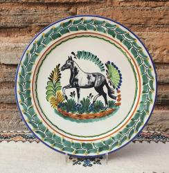mexican-platter-horse-motive-majolica-hand-made-mexico