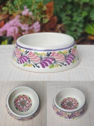 mexican-pottery-ceramic-dog-bowl-hand-painted-purple-majolica-hand-made-mexico-2