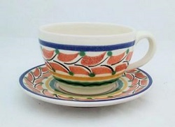 mexican-pottery-ceramic-tableware-cup-and-saucer-majolica-hand-painted-mexico-multicolors-ii