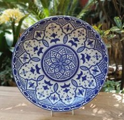 mexican-wall-platters-hand-painted-hand-wheel-folk-art-blue-gorky-workshop