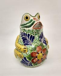 mexican-water-jar-pottery-frog-ceramic-majolica-hand-made-mexico-tableware