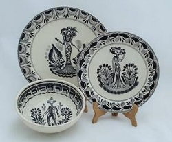 mexico-ceramic-dish-set-catrina-collection-talavera-majolica-made-in-mexico-tableware-black-iv