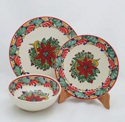 mexico-ceramic-dish-set-pointsettia-collection-talavera-majolica-made-in-mexico-tableware-black-ii