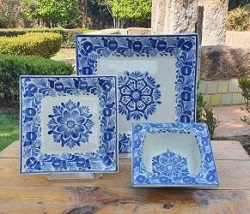 mexico-ceramic-square-dish-set-blue-flower-collection-talavera-majolica-made-in-mexico-tableware